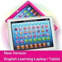 2015 Novo Tablet Crianças Brinquedos Pad Inglês Machine Learning Crianças Laptop de Aprendizagem Toy Educação para o bebê