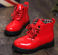 Wholesale Girls Boys Kids new child leather boots female child martin boots boys shoes single shoes little girl spring baby boots