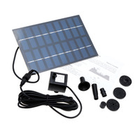 fountain pump water - Solar Powered Pump New Solar Brushless Pump For Water Cycle Pond Fountain Rockery Fountain Solar Pumps Water Garden Watering Kit