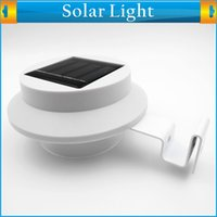 outdoor motion detector - Waterproof Outdoor Solar Powered Motion Detector Sensor Lamp LED Lights Pathway Upstairs Wall Mounted Garden Fence Yard Lamp