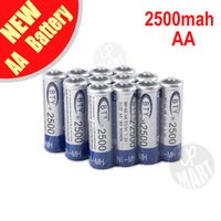 Wholesale BTY mAh AA Battery V Ni MH Rechargeable Battery for LED Flashlight Toy PDA B