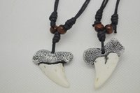Wholesale Fashion White Tibet Yak Bone Carved ToothPendant Necklace Pendants Size mm mm