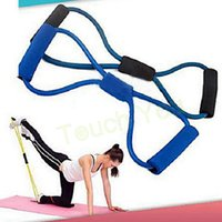Wholesale 2015 Hot Selling Yoga Resistance Bands Training Tube Body Bulding Equipment Exercise Rope