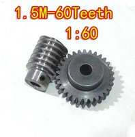 Wholesale 1 M T reduction ratio Steel metal worm gear reducer transmission parts gear hole mm rod hole mm