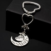 Wholesale Portachiavi Fashion chaveiro Silver llaveros Heart Keychains I Love You To The Moon And Back Key Chains For Women porte clef