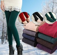 cotton leggings - Winter Women Bamboo Carbon Fiber Double Thermal Warm Tights Footless Pants Leggings