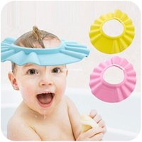 hair washing hat - Adjustable Shower cap protect Shampoo for baby health Bathing bath waterproof caps hat child kid children Wash Hair Shield Hat