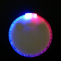 Wholesale Diameter of cm Ultra thin Circular Red and Blue LED Flash Coasters Shiny Cup Mat for Bar Wedding Birthday Xmas Party Table Decoration