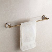 Wholesale Fashion design Brass Single towel bar Antique bronze color towel ring Bathroom Accessories HJ F