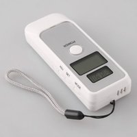 0.19 - Dual LCD display Digital Breath Alcohol Tester BAC Mini Breathalyzer alcohol analyser with clock white in retail box