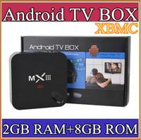 Wholesale 100PCS MXIII K Amlogic S802 Android TV Box Smart TV Receiver Media Player GHz Quad Core Android Octa Core GB GB XBMC G TV
