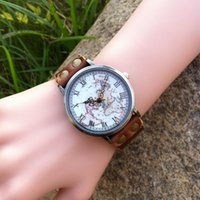 Wholesale 2015 New Men s Watch Women s World Map Watch Unisex Fashion Classic Brown Leather Strap world map watch unisex watch leather watch brown