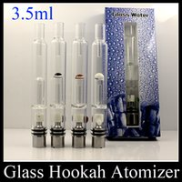Wholesale Pyrex Glass Hookah Atomizer Dry Herb Wax Vaporizer Pen Water Filter Pipe E Cigarette Bongs PK Mutation X V4 RDA ATB031