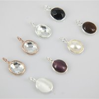 Wholesale 10 mm Framed Imitation Zircon Gemstone Oval Faceted Connector Crystal Necklace Pendant Bezel Stone for diy jewelry making