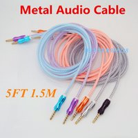 Wholesale 5FT M Car auxiliar Cable mm to mm audio cables Male Audio note aux cables car speaker for Iphone s