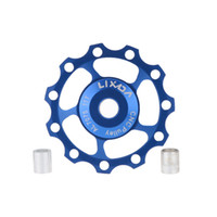 Wholesale Aluminum Alloy Bike Accessory T Guide Roller Idler Pulley Part Jockey Wheel Part LIXADA MTB Bike Road Bicycle Rear Derailleur