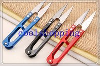 Wholesale DHL Freeshipping Clippers Sewing Trimming Scissors Nipper Embroidery Thrum Yarn Fishing Thread Beading Cutter Mini tool