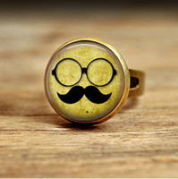 Band Rings South American Wedding RC152- knuckle ring rings Mustache with Glasses Groomsman rings adjustable rings midi ring knuckle ring