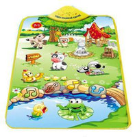 Wholesale 2014 New Farm Animal Printed PUZZLE Baby Play Mats Novetly Mini Children Game Carpet Designer Cute Musical Carpet