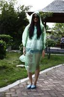 Wholesale Waterproof Thickening Disposable One off Raincoat Adult Men Women Emergency Hood Poncho Travel Camping Must Rain Coat Unisex