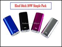 Wholesale E Cigarettes Eleaf iStick Ismoka Kits W mah Battery VV VW Mod Variable Wattage Device With OLED Screen Thread Istick Kits Instock