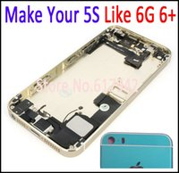 Wholesale Make S Like Mini Preassembled Full Housing Back Assembly Battery Door Cover Case For iPhone S Like G Plus HK Post Free