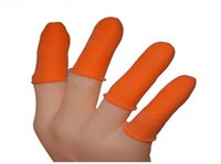 Wholesale Good quality Safety Latex Finger Protector Shields Cots For Hair Extension Bonding Styling Fingerstall
