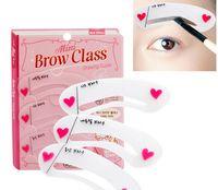 Wholesale Korea Hot Eyebrow Stencils auxiliary word artifact thrush card flat eyebrow make up tools A162