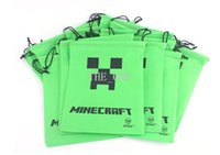 as pics draw string bag - 27 cm Minecraft Drawstring bag minecraft creeper bag Draw String bags creeper JJ bag High Quality gift christmas bags