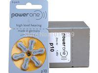 hearing aid batteries - 10 pack Genuine PowerOne PR70 P10 A10 S10 zinc air button battery for Hearing aid