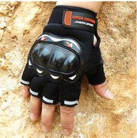 Wholesale New Half Finger Gloves Motorcycle Racing Breathable Gloves Knight Mountain Road Cycling Gloves Anti slip Bike Golves Anti shock G0119