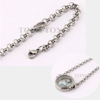 Wholesale 8 cm mm L Stainless Steel Round Bracelet Living Locket Bracelet no locket