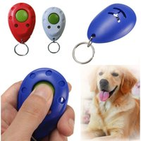 Wholesale High quality Pet Puppy Training Clicker Click Button Trainer Obedience Aid Wrist Convenient Color Random order lt no track