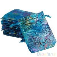 Wholesale 25Pcs pack x9cm Coralline Organza Jewelry Pouch Wedding Party Favor Gift Bag U5K