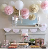 hanging flower basket - Hot Sale Tissue Paper Poms Decorative Blooms Flower Balls Home Wedding Party Supplies inches Min Multi Color Options