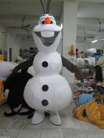Cheap Factory direct sale Hot Sale Smiling Frozen Olaf Mascot Costume Fancy Party Dress Suit Free Shipping