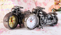 Wholesale Fashion Hot Relogio De Mesa Home Decoration Quartz Alarm Clock Super Cool Motorcycle Model Creative Retro Gift Decor Kids Children Gift