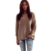 best wool coats - w1025 Best seller Womens Long Sleeve V Neck Pullover Jumper Cardigan Loose Sweaters Coat Jacket