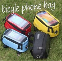 Wholesale Bicycle tube package inch touch screen mobile phone waterproof bag pipe riding equipment supplies