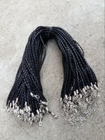 Cord & Wire leather cord braided - 18 mm Black PU Leather Braid Necklace Cords With Lobster Clasp For DIY Craft Jewelry