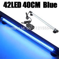 Wholesale Aquarium Fish Tank LED Light Super Bright Blue White CM Bar Submersible Waterproof Clip Lamp AC V