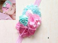 Wholesale Baby Hair Accessory Headbands Hair Bands Rosebud Sequins Hair Bow ACC Hair Accessories Colors CF331