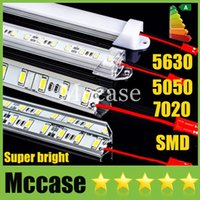 Wholesale SMD LED Bar Light DC12V cm led m Meter Hard Rigid Strip Light U or V Style Shell Cool Warm Pure white Warranty year