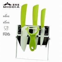 kitchen knives set - Middia Ceramic Kitchen Knives Set With Block Good Kitchen Knives and Fruit Vegetable Peeler Tools Ceramic Knife Kit