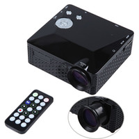 Wholesale DBPOWER Mini LED Projector Lumens Portable Pocket Proyector Projetor Home Theater Proyectores HD Video Games AV TV VGA HDMI