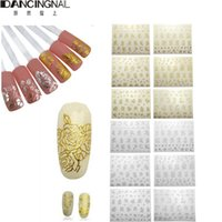 Wholesale 1Sheet Flower Nails Stickers Manicure Decals Stamping French Nail Art D DIY Tips Beauty Tools Many Style To Choose