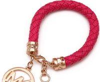 Wholesale Charm Bracelets For Women Man Lady Girls PU Leather Link Bracelet Punk Style Brand M Letter Pendants Retro Charms Jewelry Color I2875