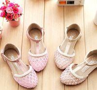 decorative mesh - Ling Plaid Mesh Cloth Pearl Decorative T Word Foot Ring Belt Children Sandals Summer New Hot Sandals Children s fashion Sandals