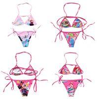 Wholesale 2016 New Arrival Summer set Bikini Frozen Elsa Children Girls Lovely Kids Fashion Swimsuit Swimming Cartoon Swimwear A