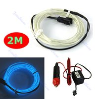 Wholesale New M Flexible Neon Light Glow EL Wire Car Rope Strip Car Charger Driver CW